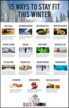15 Ways to Stay Fit this Winter