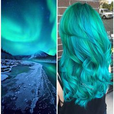 This Galaxy Hair Trend Is Out-Of-This-World ❤ liked on Polyvore featuring hair and people