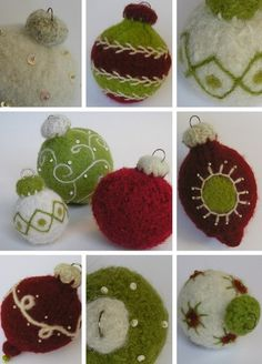 I like the beading and the swirls on the green ornament