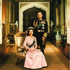 Queen Elizabeth and Prince Philip , Windsor Castle  #happyandglorious #GodSaveTheQueen #monarchy #majesty #britishroyalfamily #britishmonarchy #britishroyals #crown #London #love #queenelizabeth #QueenElizabethII #elizabethII #windsor #windsorcastle #englandroyal #royal #uk #history #diamond #style #jewelry