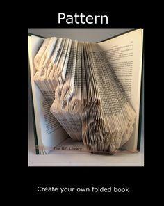 Live Love Craft Book Folding PATTERN~Folded Book art Patterns~
