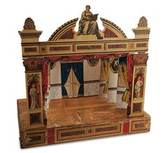 1890 German Toy Theatre by Schreiber found on Theriault's auction site - the presell estimate was 400/600 - http://www.theriaults.com/default/index.cfm?LinkServID=F1F6B52C-BDB9-3413-D6B0A7098C7BF120=171=547=42186