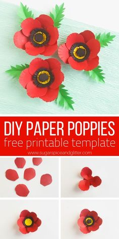 A free printable and step-by-step tutorial for how to make paper poppies for Memorial Day. A simple poppy craft for older kids A free printable and step-by-step tutorial for how to make paper poppies for Memorial Day. A simple poppy craft for older kids Memorial Day Activities, Remembrance Day Activities, Remembrance Day Poppy, Poppy Craft For Kids, Art For Kids, Paper Plate Poppy Craft, Memorial Day Poppies, Projects For Kids, Crafts For Kids