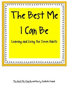This an original book that can be printed and then illustrated by your students to help them learn Covey's seven habits for effective people.  It i...