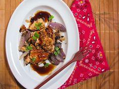 Filé de salmão com molho de saquê  - Cozinha Travessa - Germer Porcelanas