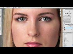 tuto photoshop retouche de la peau mode partie 1 en francais - YouTube