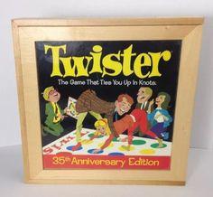 Twister Milton Bradley 2001 Nostalgia Game Series Wooden Box #40268 35th Ann. Ed #MiltonBradley