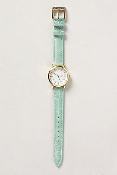 Tennis Club Leather Watch - anthropologie.com