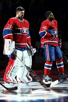 Carey price and p. subban - two of my favourite Canadiens! Hockey Memes, Hockey Goalie, Hockey Players, Ice Hockey, Funny Hockey, Montreal Canadiens, Hockey Pictures, Gyms Near Me, Hockey Season