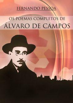 """Capa do livro """"Poemas Completo de Álvaro de Campos"""" de Fernando Pessoa."""