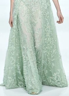 Elie Saab Couture Spring 2012 Mint Green - see more at http://www.eliesaab.com/