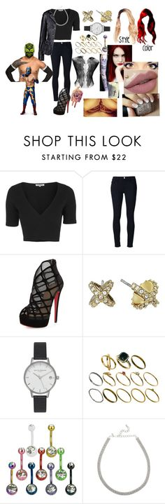 """A hardy and the Masked Man(Sin Cara(Hunico) Love Story)"" by anaeve ❤ liked on Polyvore featuring Topshop, Frame Denim, Christian Louboutin, Alexis Bittar, Olivia Burton, ASOS and Kenneth Jay Lane"