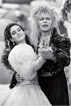 Jennifer Connelly & David Bowie in Labyrinth / Dir: Jim Henson David Bowie Labyrinth, Labyrinth Film, Jim Henson Labyrinth, Angela Bowie, Goblin King, Duncan Jones, Requiem For A Dream, Labrynth, Fantasy Films
