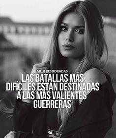 """2,767 Me gusta, 10 comentarios - MUJERES DORADAS (@mujeresdoradas) en Instagram: """"Debes estar a la altura ante cualquier batalla porque eres una GUERRERA y de las mejores…"""""""