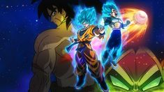 The official Dragon Ball Super The Movie Broly promotional image Broly, Super Saiyan Blue Goku and Super Saiyan Blue Vegeta Dragon Ball Z, New Dragon, Goku Dragon, Steam Artwork, Goku E Vegeta, Son Goku, Goku Vs, Akira, Science Fiction