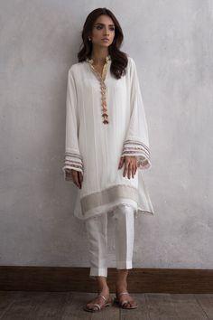 Shop the Nida Azwer Official Website. Pakistani Fashion Party Wear, Pakistani Dresses Casual, Pakistani Dress Design, Indian Fashion, Indian Designer Outfits, Indian Outfits, Indian Dresses, Designer Dresses, Tunic Designs