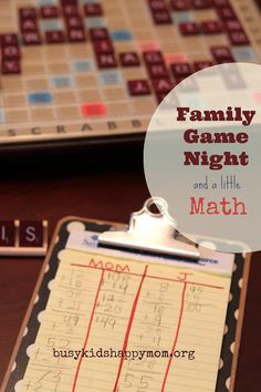 Sneaky Math with Scrabble  busykidshappymom.org