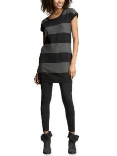 stripped sweater dress