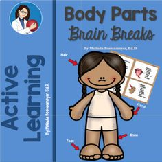 Enjoy this set of 21 Brain Break Cards centered around various body parts and their movements. For example shoulders: shrug your shoulders, lift shoulders up to ears, roll shoulder back and can you make your shoulder blades touch in your back? Twenty-one brain break cards with nearly 80 different body part activities.