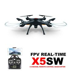 Amazon.com: Syma X5SW 4CH 2.4G 6-Axis Gyro Headless Support Mobile Phone Apple IOS Android Wi-Fi Wifi Control FPV HD 0.3MP Camera 360-degree 3D Rolling Mode 2 RTF RC Quadcopter Black: Toys & Games