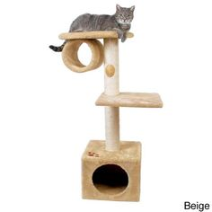 Allow your cats natural scratching instincts to flourish with this San Fernando scratching post from Trixie. Multiple platforms and scratching posts will keep your cats off your carpets and furniture and preoccupied.