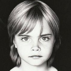 Young Cara Delevingne