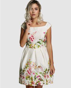 Vestido corto de mujer Fórmula Joven con flores