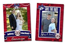 Save the Date Baseball Cards. #savethedate