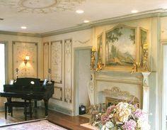 Decorative Stencil Marie-Antoinette Ceiling by CuttingEdgeStencils