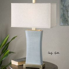 Lowest Price Online On All Uttermost Cantarana Blue Gray Table Lamp