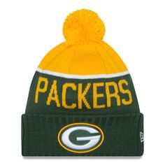Green Bay Packers New Era Knit NFL On Field Sideline Beanie Cap Hat Authentic #NewEra #GreenBayPackers
