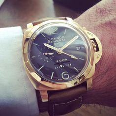 Rose gold #Panerai PAM 289 available at #BlowersWatches by blowerswatches #panerai