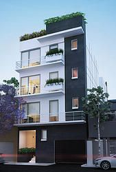 Ideas departamentos on pinterest studio apartment floor for Casas con balcon y terraza