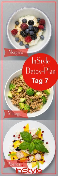 7 days detox plan: delicious, healthy and super 7 Tage Detox Plan: Lecker, gesund und super einfach! The 7 day detox plan: detoxify your body without starving yourself! Detox Diet Recipes, Detox Diet Drinks, Detox Diet Plan, Healthy Juice Recipes, Healthy Juices, Detox Juices, Healthy Detox, Healthy Foods, Detox Meals