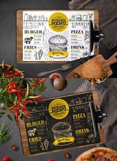 Food Menu Template EPS, PSD A4