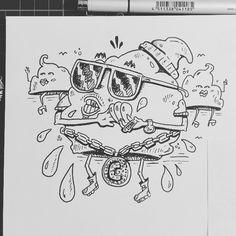 #19 for inktober (cloud). Cloudy with a chance of making it rain baby! .  .  .  .  .  .  #inktober #inktober2017 #inktoberprompts #cloudy #cloud #19 #drawing #illustration #art #artistsoninstagram #instaart #instagood #rain #gangsta #effect14 #followformore