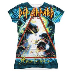 Def Leppard - Hysteria Junior All Over Print 100% Poly T-Shirt