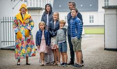 No raining of the Danish royal family's parade! Prince Vincent of Denmark couldn't contain his excitement ahead of the Danish royal family's attendance at the Ringsted Horse Ceremony at Grasten Slot.   The young Prince and his siblings, Prince Christian (right), Princess Josephine (left) and Princess Isabella (center), were joined by their parents, Crown Princess Mary and Prince Frederik and their paternal grandmother, Queen Margrethe, at the event held during the family's summer vacation…