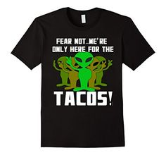 Men's Tacos and Aliens Tshirt Humor by Scarebaby Medium B…
