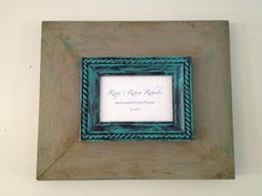 Distressed Handmade Wood Picture Frame in by RoxysRetroRehabs