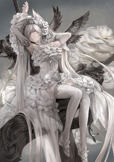 mizu(Pixiv)... | Kai Fine Art || For more great pins be sure to check out www.pinterest.com/sweetreminisce7/ || Keywords: anime japan digital art illustration illustrations lady ladies girls girl woman women beautiful ||
