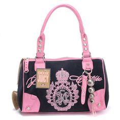 Juicy Couture JC Crown Handbag Black-Pink