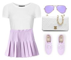 """""""Tumblr outfit!"""" by loveclohthssomuch on Polyvore featuring Topshop, Chanel and Ray-Ban"""