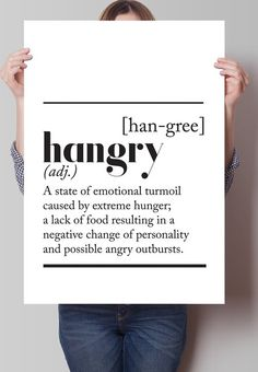 Fancy - Hangry Dictionary Definition Print