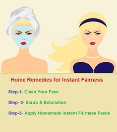 Are you looking for instant fairness tips because you want to attend party and no time for facial then you don't need to worried as you can get instant fairness at home. There are various home remedies to get fair skin instantly. There are many ingredients which are available at your kitchen to give you instant fairness.                                                                                                                                                     More