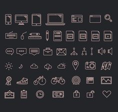 Graphic designer Luboš Volkov from Czech Republic designed this free icon set including over 60 beautiful vector icons as EPS, AI, and SVG Files.