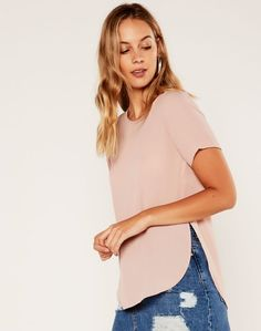 Scoop Back Shell Top Whirl Pink