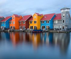 Colourful houses in Groningen, Netherlands