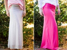 Yoga Waistband Maxi Skirt. Sewing directions that I can actually follow with no pattern.