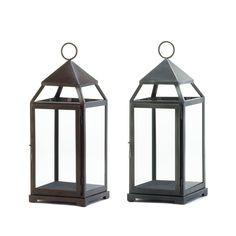 This large lantern available in a rustic bronze or silver finish is the easiest way to create a spectacular setting that will shimmer with style.